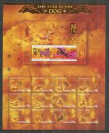 ILE CHRISTMAS (Océan Indien) Animaux Du Zodiaque Chinois, Feuillet Neuf ** Côte 15 €, Année 2006 - Nouvel An Chinois