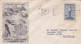 EIGHTIETH OBSERVANCE OF DOMINION DAY. FDC CANADA OTTAWA CIRCA 1947. AUTRES MARQUES - BLEUP - First Day Covers