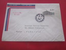 LA GUADELOUPE Cachet à Date Manuel +griffe Saint-Martin-1984-Lettre Par Avion Timbre Collection De France Ex-colonie - Guadalupe (1884-1947)