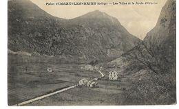 09 PLAINE D'USSAT LES BAINS ET ROUTE D'ORNOLAC 1919 CPA 2 SCANS - Francia