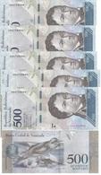 Venezuela - 5 Pcs X 500 Bolivares 2016 UNC Lemberg-Zp - Venezuela