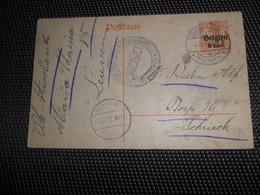 ( 3000 )  Entier Postal  Postwaardestuk - Duitse Bezetting 1917 - LÖWEN - LEUVEN  SCHRIEK ( BELGIEN ) - Interi Postali