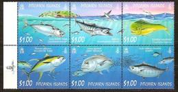 Pitcairn Islands 2007 Yvertn° 685-690  *** MNH Cote 12 Euro Faune Poissons Vissen Fish - Timbres