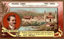 CHROMO  THES SARAH  POIVRES SARAH  SVEN HEDIN - Chromos