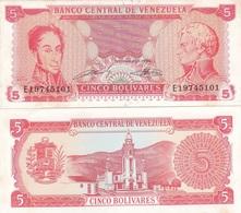 Venezuela - 5 Bolivares 21.09. 1989 Pick 70b (8 Dig.) AUNC+ Lemberg-Zp - Venezuela
