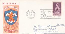 ELIZABETH II. FDC CANADA OTTAWA CIRCA 1964 - BLEUP - Sobre Primer Día (FDC)