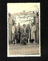 Postal Fotografico: Grupo Excurcionista No RESTAURANTE ROSAS Gondomar / Porto. Vintage Real Photo Postcard PORTUGAL - Porto