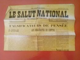 LE SALUT NATIONAL Du 25/01/1914 Organe Hebdomadaire Régional D'ACTION FRANCAISE - Autres