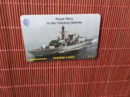Phonecard Falkland Island Royal Navy Number 59CFKC Used  Rare - Falkland Islands