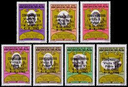 Honduras, 1966, Visit Of Pope To United Nations, Father Subirana, MNH Black Overprint, Michel 646-652 - Honduras
