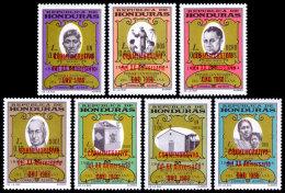 Honduras, 1967, United Nations 20th Anniversary, Father Subirana, MNH Red Overprint, Michel 673-679 - Honduras