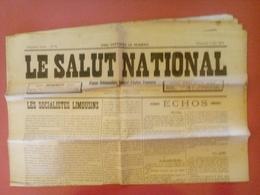 LE SALUT NATIONAL Du 07/06/1914 Organe Hebdomadaire Régional D'ACTION FRANCAISE - Journaux - Quotidiens