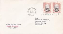 HENRI BOURASSA. FDC CANADA OTTAWA CIRCA 1968. CIRCULEE TO BUENOS AIRES - BLEUP - First Day Covers
