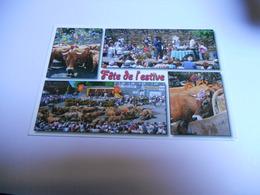 12 AVERON  CARTE COULEUR MULTI DE 2012 FETE DE L'ESTIVE DEPART DES DEMOISELLES AUX YEUX DE VELOURS POUR LES PATURAGES - France