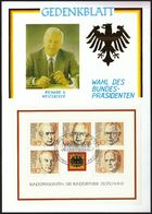 Germany Bonn 1984 / Election Of The President / Wahl Des Bundespräsidenten / Gedenkblat - Cartas