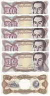 Venezuela - 5 Pcs X 100 Bolivares 13.10. 1998 XF+/aUNC- Lemberg-Zp - Venezuela