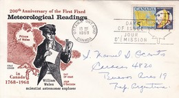 200TH ANNIVERSARY OF THE FIRST FIXED METEOROLOGICAL READINGS. FDC CANADA OTTAWA CIRCA 1968 - BLEUP - First Day Covers