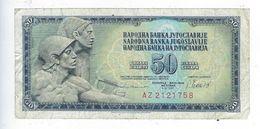 Billet Yougoslavie 50 Pedeset Dinara 1981 Petdeset Dinarjev - Yugoslavia