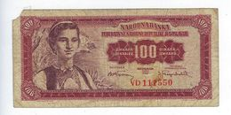 Billet Yougoslavie 100 Pedeset Dinara 1955 - Yugoslavia