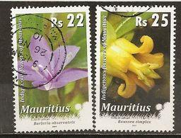Maurice Mauritius 2009/10 Fleurs Flowers Obl - Mauritius (1968-...)