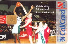 IRELAND - 50 Years Irish Basketball, Chip ODS 3, Tirage 50000, 09/98, Used - Ireland