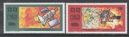 """PAIRE NEUVE DU CONGO - CONQUETE DE L'ESPACE  SONDE """"MAGELLAN"""" ET SONDE """"ULYSSE"""" N° Y&T PA 409/410 - Space"""
