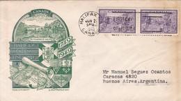 HALIFAX BICENTENNIAL. FDC CANADA HALIFAX CIRCA 1949 - BLEUP - First Day Covers