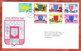 FDC Mit Inhalt, Pfarrgemeinden, Erstausgabestempel Jersey 1976 (55536) - Jersey