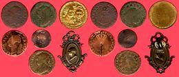 ** LOT  5  MONNAIES  +  LOUIS  XVI  1787 D  +  15  SOLS  1791  +  AUTRES ** - 1774-1791 Louis XVI