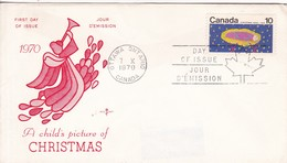 A CHILD'S PICTURE OF CHRISTMAS. FDC CANADA OTTAWA CIRCA 1970 - BLEUP - First Day Covers