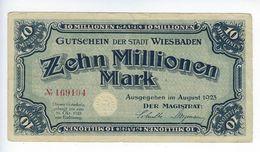 Billet Wiesbaden 10 Millionen Mark 1923 - [ 3] 1918-1933: Weimarrepubliek
