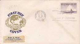 FIRST DAY COVER. FDC CANADA OTTAWA CIRCA 1955 - BLEUP - 1952-1960