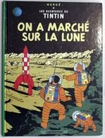 """{07734} Hergé  """" On A Marché Sur La Lune """",  1987 (?). TBE   """" En Baisse """" - Tintin"""