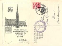 D- [514267] Carte-Autriche 1949 - Wien, Dombauhutte, Eglises Et Cathédrale, Armoiries - Eglises Et Cathédrales