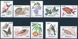 2573-2582 Mediterane Fauna, Einwandfrei Postfisch/** - Monaco