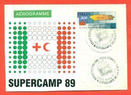 CASTIGLIONE DELLE STIVIERE- CROCE ROSSA -SUPERCAMP - INTERO POSTALE -VIGNETTE ERINNOFILE - ERINNOFILIA - MARCOFILIA - Croce Rossa