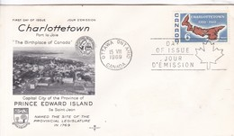 CHARLOTTETOWN, THE BIRTHPLACE OF CANADA. CAPITAL OF PRINCE EDWARD ISLAND FDC CANADA OTTAWA CIRCA 1969 - BLEUP - First Day Covers