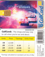 IRELAND - Economy(20/97)(100 Units), Chip ODS 3, Tirage 10000, 08/96, Used - Ireland