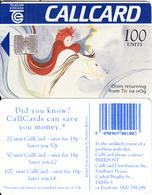 IRELAND - Oisin Returning From Tir Na NOg(100 Units, Barcode On Reverse), Chip SC7, Tirage %65000, 08/94, Used - Ireland