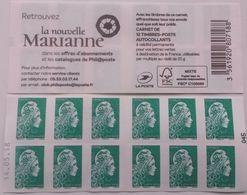 Carnet Marianne D'YS (Yseult Digan) Lettre Verte Guichet (12 Tp) Daté 14.05.18   RR - Carnets