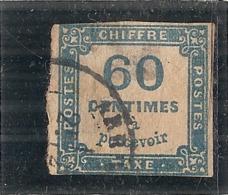 FRANCE  Taxe N° 9 Côte 150€ 60cts Bleu Très Important Aminci - Taxes
