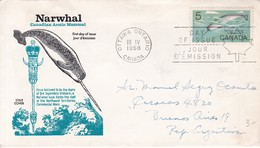 NARWHAL CANADIAN ARCTIC MAMMAL. FDC CANADA OTTAWA CIRCA 1968 - BLEUP - First Day Covers