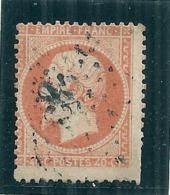 FRANCE  Napoléon Dentelé 40 Cts Orange Oblitéré Décalage Bord De Feuille   - N° 23 Côte 15€ - 1862 Napoleone III