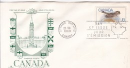 TIMBRES POSTE CANADA POSTAGE STAMPS. FDC CANADA OTTAWA CIRCA 1969 - BLEUP - First Day Covers