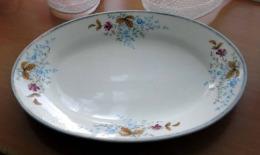 Uraltes Großes Wunderschönes PORZELLAN TABLETT, Guter Zustand, Größe 40 X 28 Cm. - Ceramics & Pottery