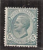 ITALIE : N° 76  -  5 Cts - Neuf Sans Gomme - - 1861-78 Victor Emmanuel II.