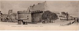 Nantes : Carte Panoramique Double Format : Le Château Et Le Quai Du Port Maillard (ND Phot. N°1287) - Nantes