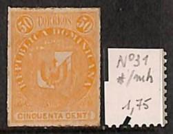 [814363] */Mh-Dominicaine (République)  - N° 31, 50 Orange, Armoiries - Dominicaine (République)