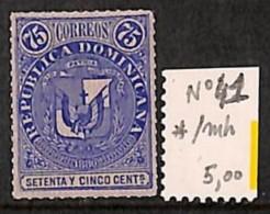 [814364] */Mh-Dominicaine (République)  - N° 41, 75c Bleu, Armoiries - Dominicaine (République)