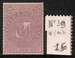 [814368] */Mh-Dominicaine (République)  - N° 39, 25c Violet, Armoiries - Dominicaine (République)